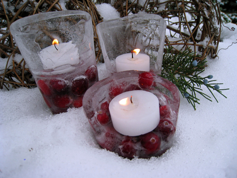 Ледяной фонарь нановый годсвоими руками